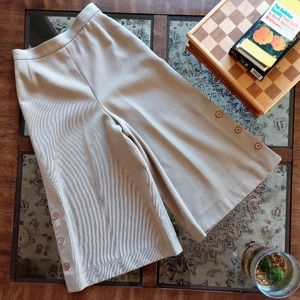 Vintage Jaeger cropped high-waisted culottes